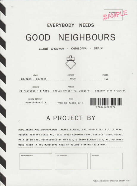 Arnau Blanch - Everybody needs Good Neighbours, Editorial RM 2015, Cover - http://josefchladek.com/book/arnau_blanch_-_everybody_needs_good_neighbours, © (c) josefchladek.com (29.05.2015)