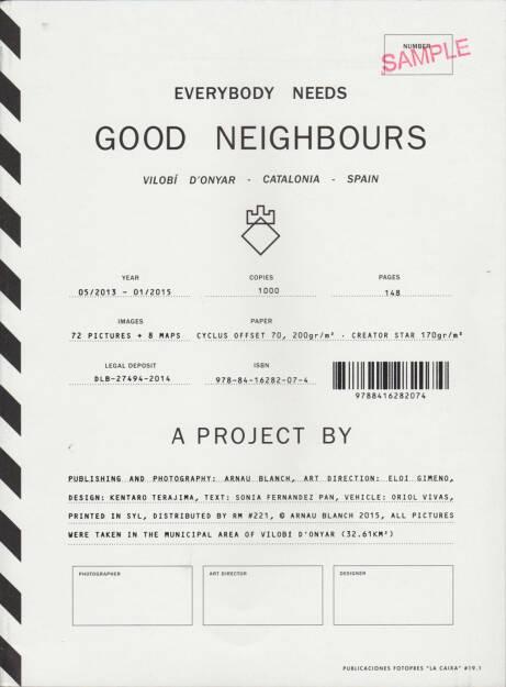 Arnau Blanch - Everybody needs Good Neighbours, Editorial RM 2015, Cover - http://josefchladek.com/book/arnau_blanch_-_everybody_needs_good_neighbours, © (c) josefchladek.com (29.05.2015)