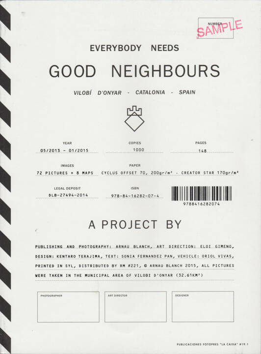 Arnau Blanch - Everybody needs Good Neighbours, Editorial RM 2015, Cover - http://josefchladek.com/book/arnau_blanch_-_everybody_needs_good_neighbours