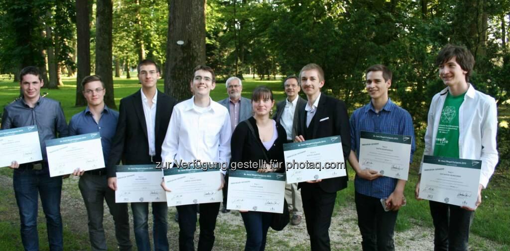 Gewinner der Hans-Riegel-Fachpreise: Die Johannes Kepler Universität (JKU) Linz, der Landesschulrat für Oberösterreich und die Gemeinnützige Privatstiftung Kaiserschild haben gemeinsam am Donnerstag, 28. Mai 2015, die Dr. Hans-Riegel-Fachpreise sowie die Young-Scientist-Awards verliehen. (C) JKU, © Aussendung (29.05.2015)