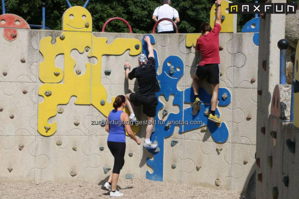 Wienathlon, klettern, © MaxFun Sports (31.05.2015)
