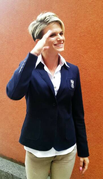 Elisabeth Niedereder Baku Einkleidung European Olympic Games (31.05.2015)