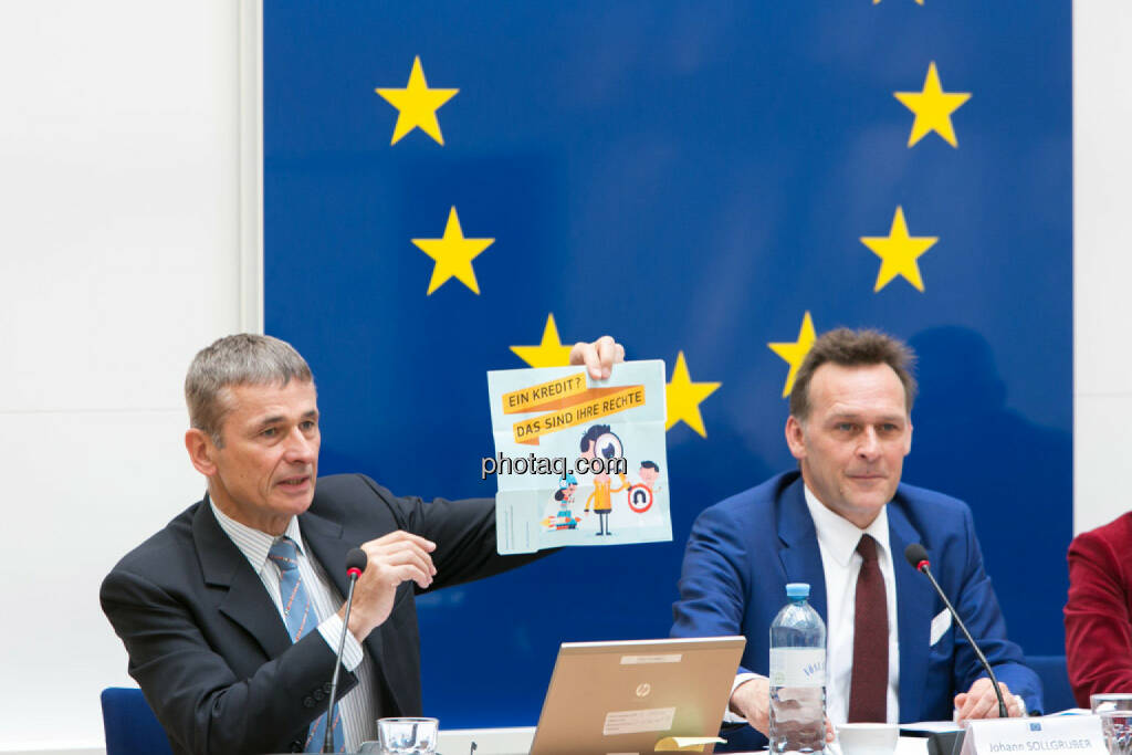 Heinz Miko (EU-Kommission Vertretung in Ö), Johann Sollgruber (Leiter der Vertretung der EU-Kommission in Ö), © photaq/Martina Draper (01.06.2015)