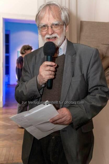 Ulrich Gansert bei der Laudatio (C) Peter Hickersberger, © Robert Rieger, Manfred Schmid, Johannes Asenbaum, Peter F. Hickersberger (02.06.2015)