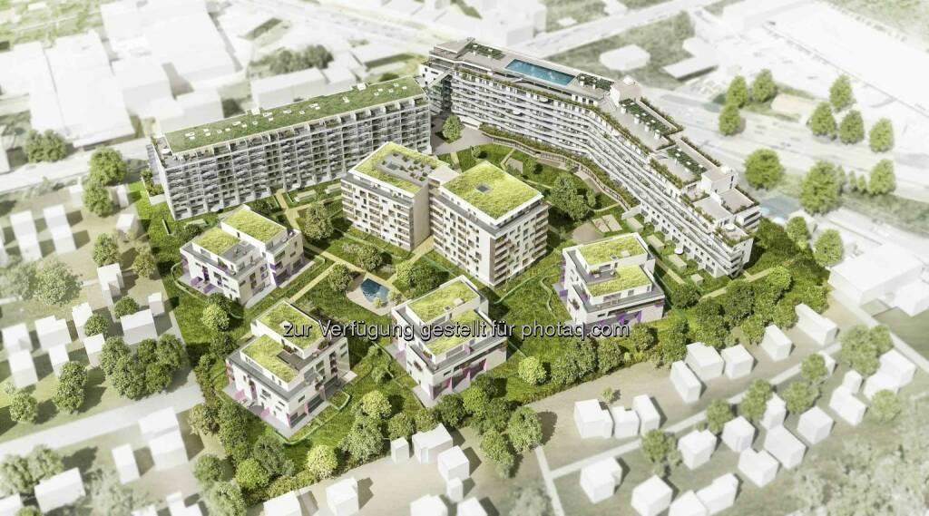 """Buwog: Visualisierung des Wohnprojekts """"Southgate"""", © Aussendung (02.06.2015)"""