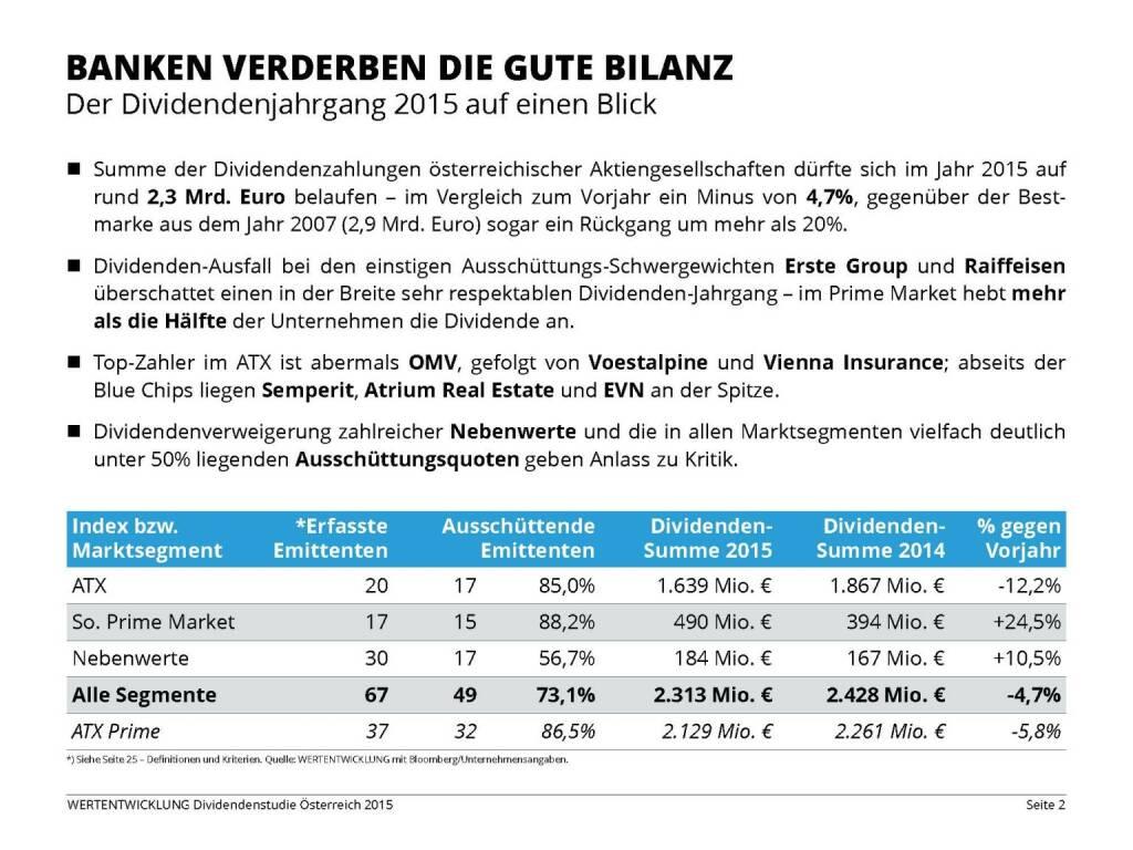 Banken verderben die gute Bilanz (03.06.2015)