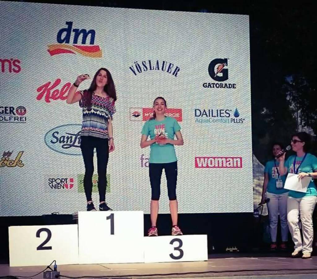 Melanie Raidl gewinnt beim Frauenlauf mit 41:38min über 10k die Wertung in ihrer Altersklasse., © Melanie Raidl (03.06.2015)