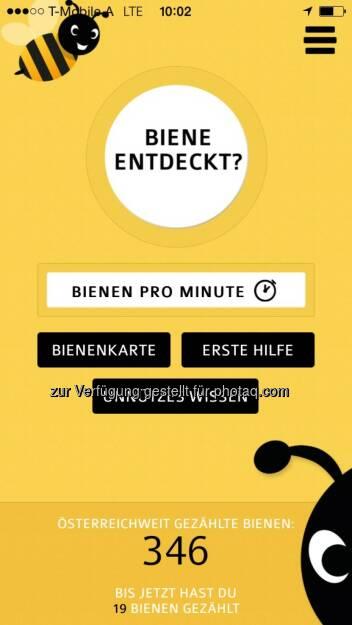 Digitalsunray: Neue Global 2000 Bienencheck-App von Digitalsunray - Empfohlen von Ö3 und der ORF-Umweltinitiative Mutter Erde (03.06.2015)