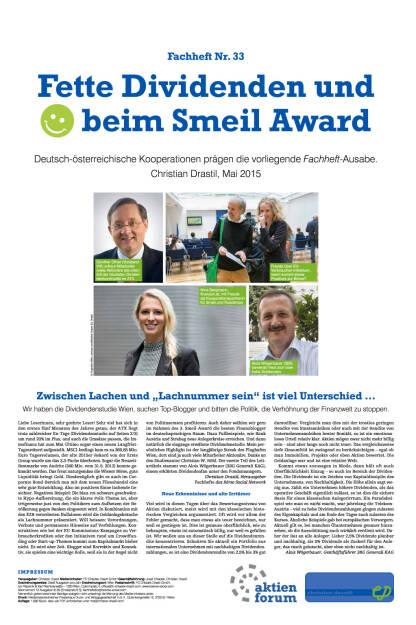 Fachheft 33: Dividendenstudie und Smeil Award 2015, Seite 1/8, komplettes Dokument unter http://boerse-social.com/static/uploads/file_79_fachheft_33.pdf (03.06.2015)