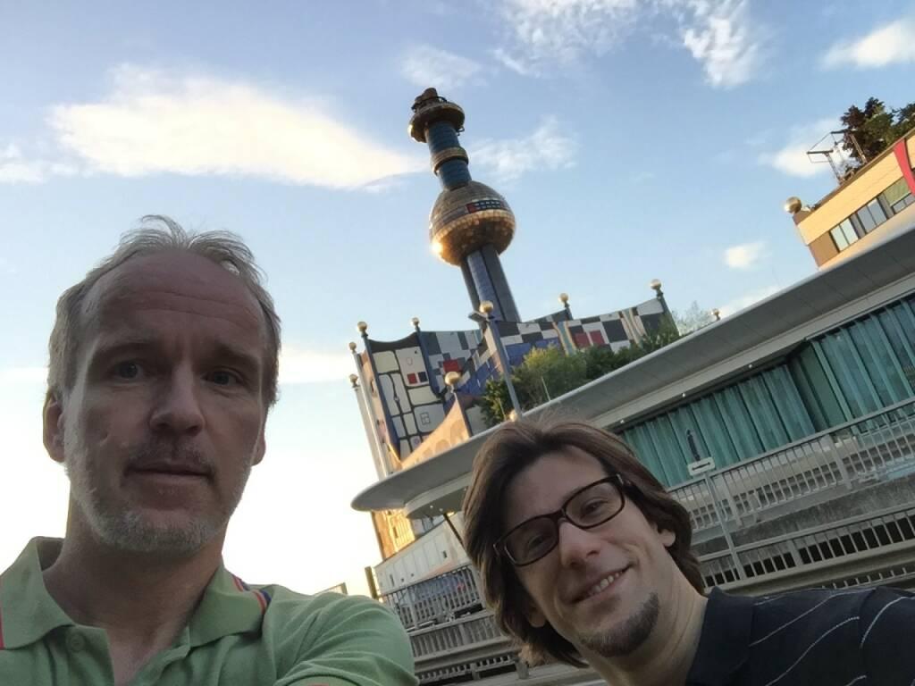 Checken Strecken für 1090: Christian Drastil, Lukas Jersabek Wien Energie (06.06.2015)