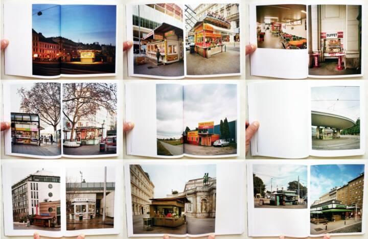 Stefan Olah - Fünfundneunzig Wiener Würstelstände, Anton Pustet 2013, Beispielseiten, sample spreads - http://josefchladek.com/book/stefan_olah_-_funfundneunzig_wiener_wurstelstande