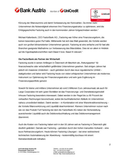 FactorBank: 50 Jahren Liquiditätsverbesserer von Unternehmen, Seite 2/3, komplettes Dokument unter http://boerse-social.com/static/uploads/file_101_factorbank.pdf (09.06.2015)
