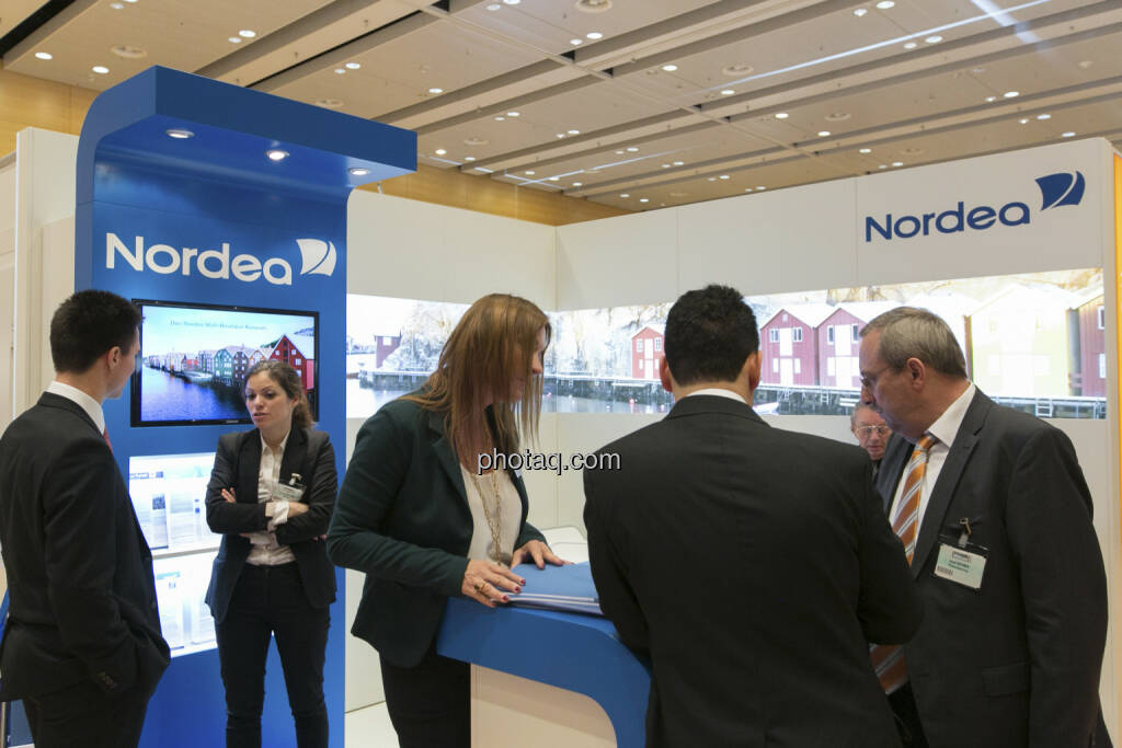 Fonds Professionell Kongress 2013 - Stand Nordea, © Martina Draper/finanzmarktfoto.at (06.03.2013)