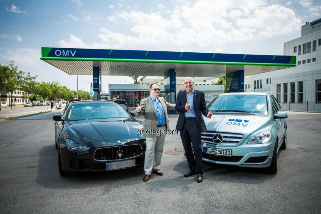 Gregor Rosinger (Rosinger Group), Walter Böhme (Leiter Innovationsmanagement OMV), © photaq/Martina Draper (10.06.2015)