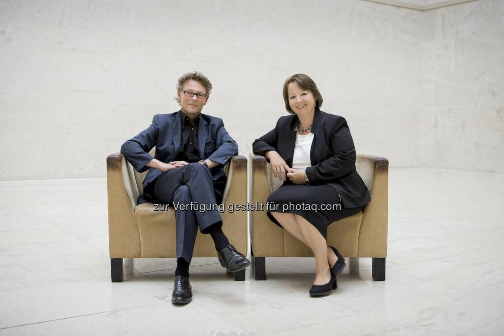 Neues designiertes Direktorium des Leopold Museum: Gabriele Langer und Hans-Peter Wipplinger (C) Leopold Museum, © Aussender (11.06.2015)