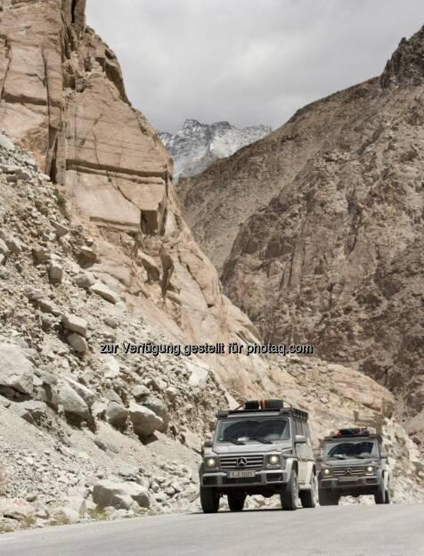 Mike Horn mit der G-Klasse auf dem Weg zum K2 im Mai / Juni 2015 (C) Daimler, © Aussendung (11.06.2015)