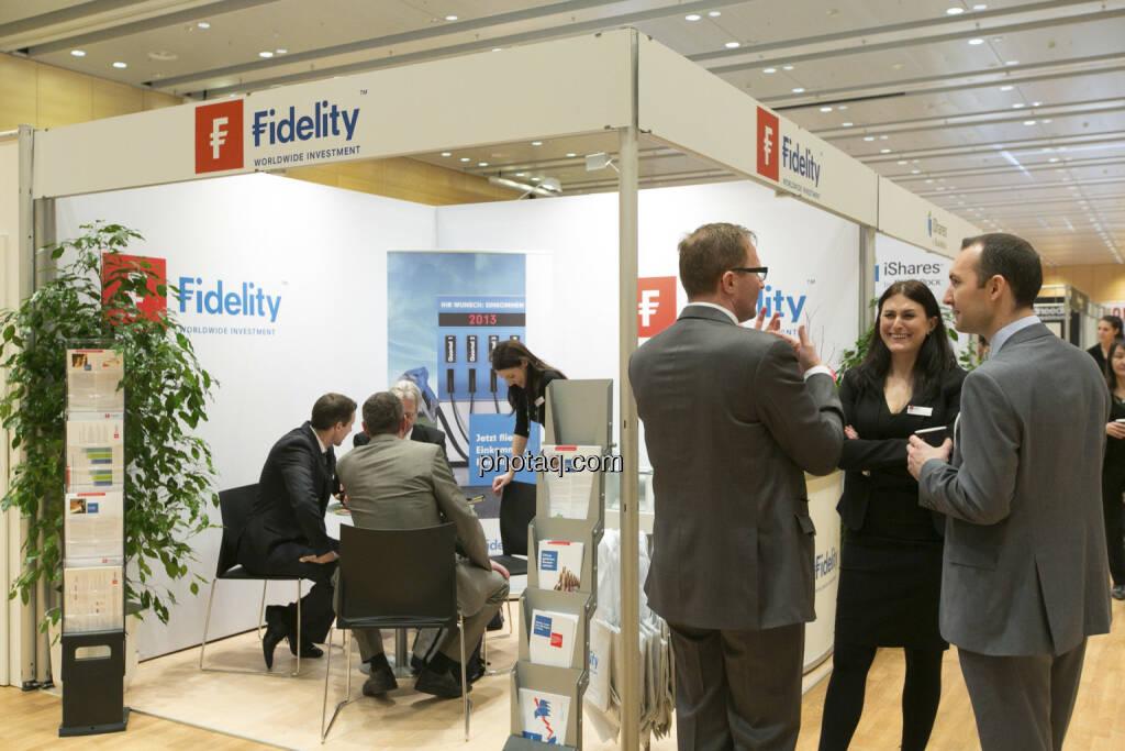 Fonds Professionell Kongress 2013 - Stand Fidelity, © Martina Draper/finanzmarktfoto.at (06.03.2013)