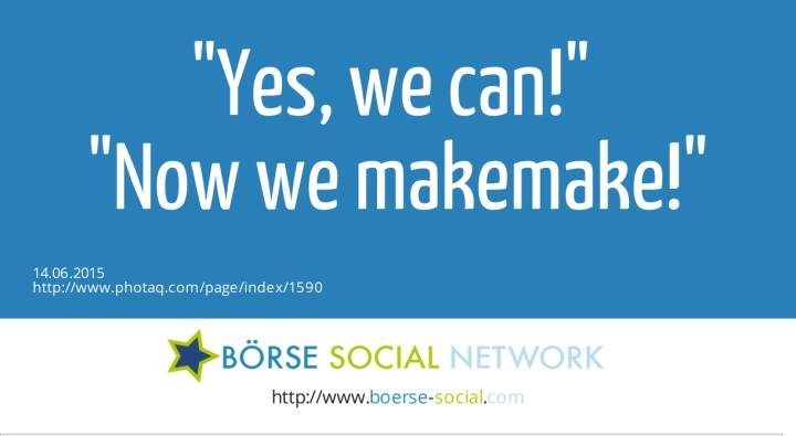 Yes, we can! <br>Now we makemake!