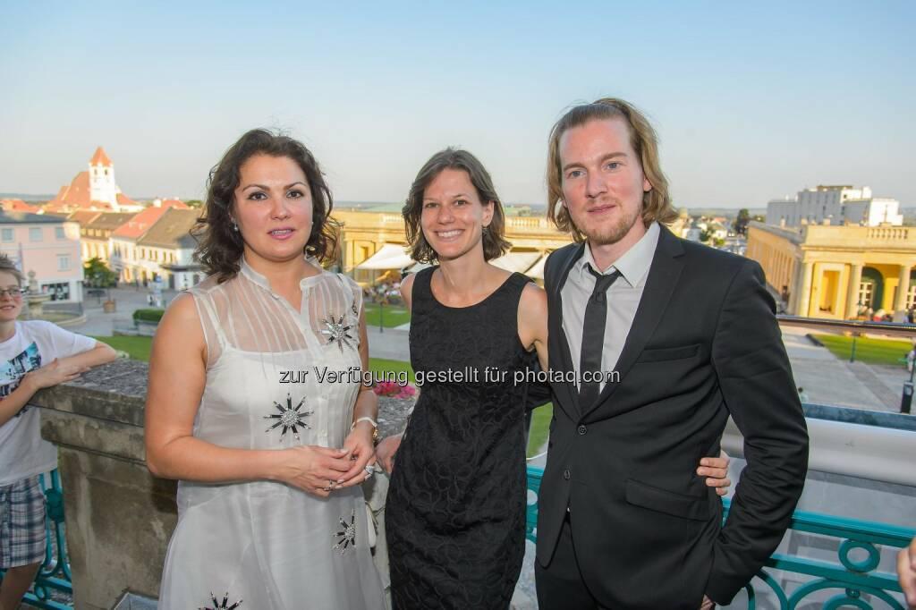 Anna Netrebko, Christiane Lutz (Regie), Karsten Januschke (Musikalische Leitung), (C) ViennaPress / Andreas Tischler (14.06.2015)