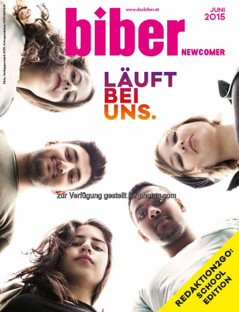 Biber Verlagsgesellschaft mbH.: biber-Newcomer erscheint zum 1. Mal! (C) biber/Mestrovic, © Aussender (15.06.2015)