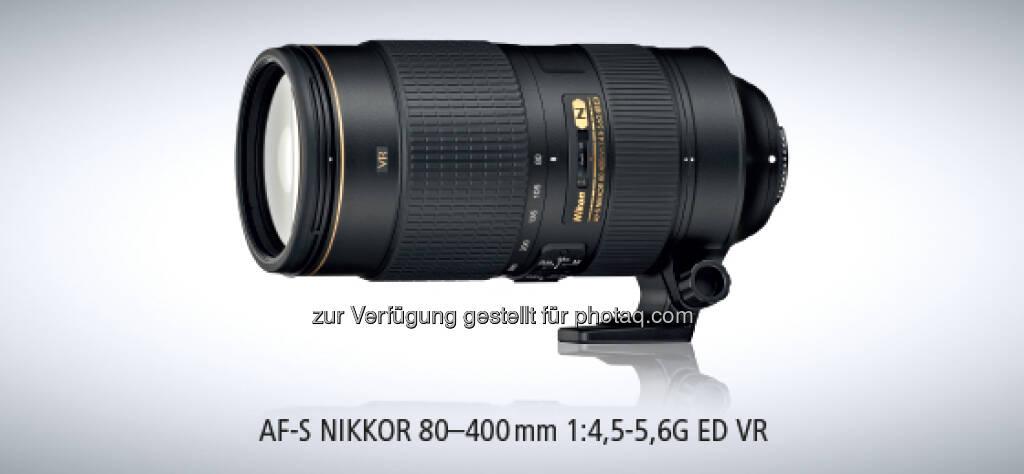 Nikon - Flexibilität im Telebereich - Telezoom AF-S NIKKOR 80-400 mm 1:4,5-5,6G ED VR (06.03.2013)
