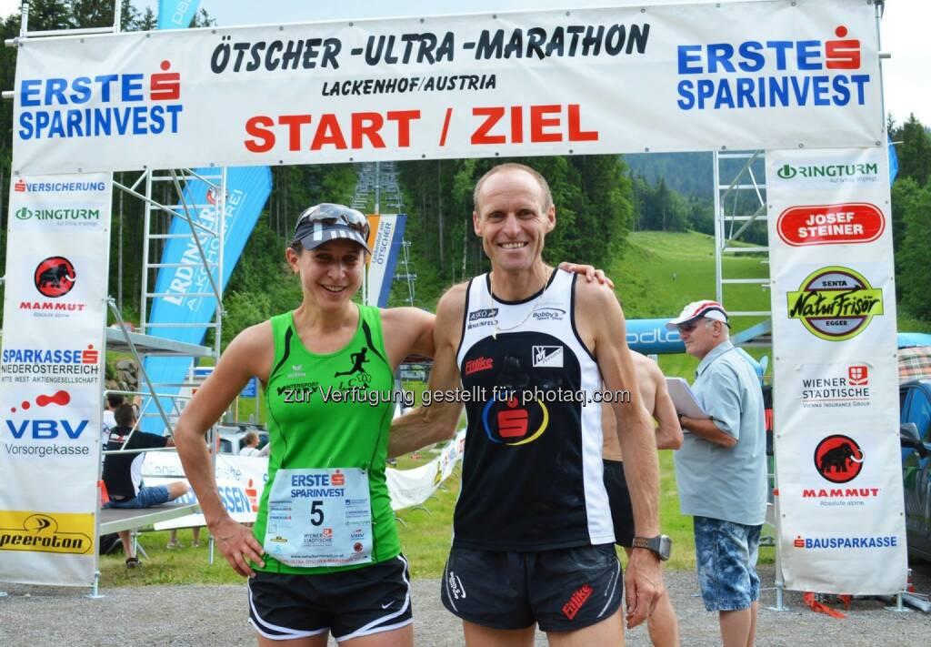 Die Staatsmeistertitel 2015 im Bergmarathon 50km im Rahmen des ESPA gehen an Veronika Limberger (4h:24) und Wolfgang Wallner (4h:10) , © ESPA-Ötscher-Ultra-Marathon 2015 (16.06.2015)