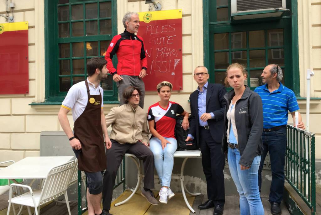 Philipp (vom Ströck), Lukas Jersabek (SPÖ Alsergrund), Christian Drastil (Runplugged), Elisabeth Niedereder (Tristyle), Peter Sitte (com_unit), Lisa-Marie Köhler (Motiwirtin), Hakim Hadi (Pizzeria Valentino) (17.06.2015)
