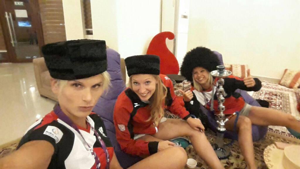 Elisabeth Niedereder (Tristyle Runplugged Runners): mit Viola Kleiser and Steffi Huber (18.06.2015)