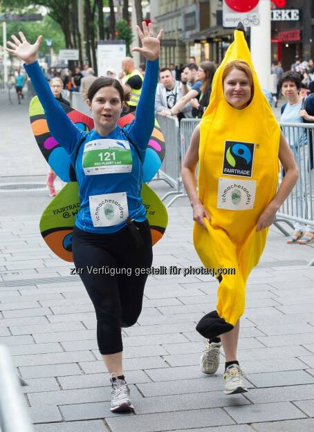 Schmetterling, Banane, © Hagen/Global 2000 Fairness Run (19.06.2015)