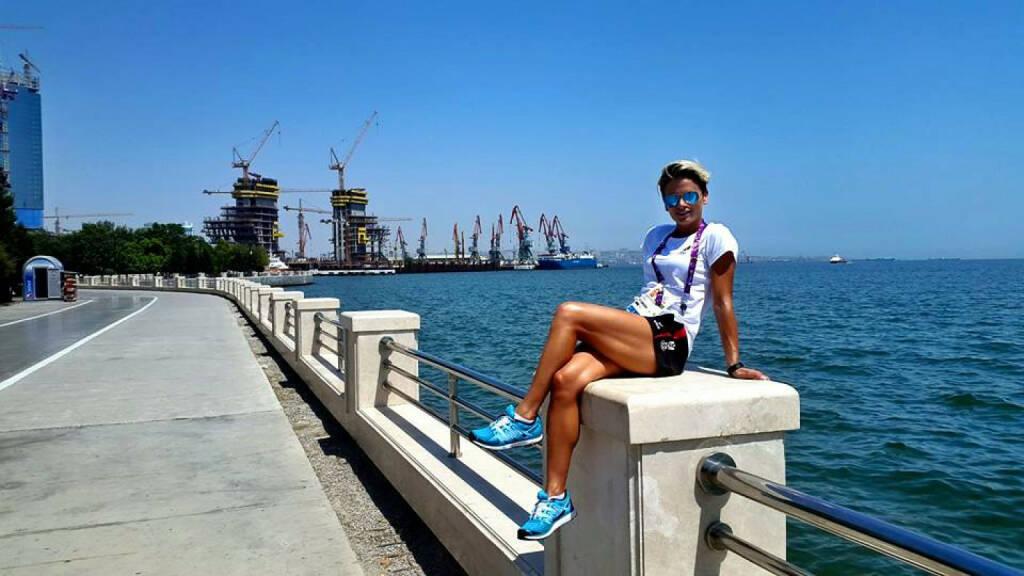 Elisabeth Niedereder (Tristyle Runplugged Runners): Am kaspischen Meer.  (19.06.2015)