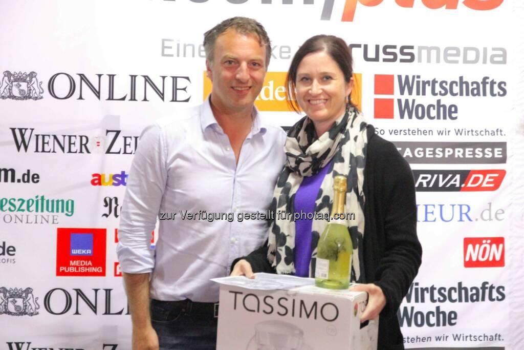 austria.com/plus Geschäftsführer André Eckert, Mediacom-Managerin Barabara Sailer, © austria.com/plus (19.06.2015)