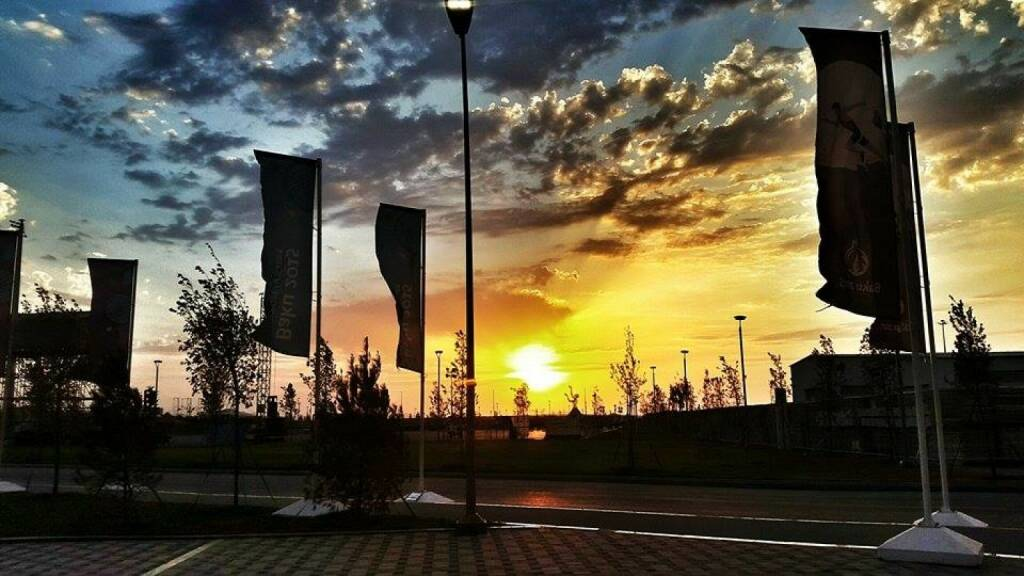 Baku Sonnenuntergang (23.06.2015)