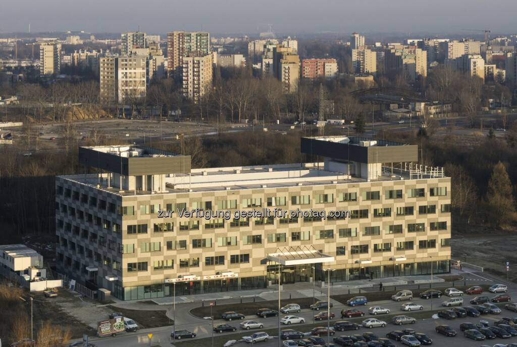 CA Immobilien Anlagen AG: CA Immo vermietet 5.000 m² Bürofläche in Krakauer Projektfertigstellung, (C) CA Immobilien Anlagen AG, © Aussendung (23.06.2015)