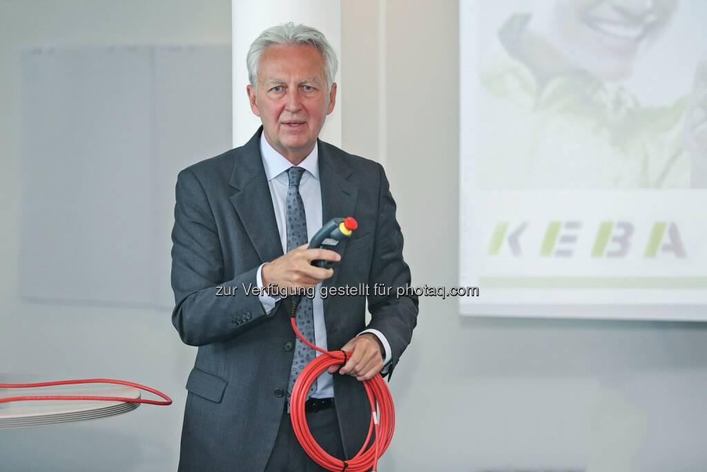 Gerhard Luftensteiner (Vorstandsvorsitzender Keba AG): Keba prolongiert erfolgreiches Wachstum (C) Reichl und Partner PR GmbH/APA-Fotoservice/Hartl , © Aussender (23.06.2015)