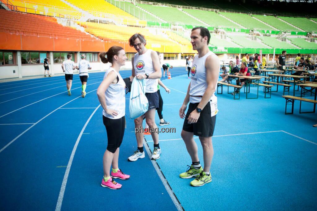 Martina Draper, Josef Chladek, Stefan Kratzsch (Deutsche Bank), © photaq/Ludwig Hartweger/Martina Draper/div.Handypics (26.06.2015)