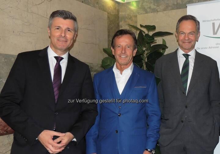 Gerhard Zeiner, Karl Javurek und Andreas Treichl bei der 36. WdF-Generalversammlung: Wirtschaftsforum der Führungskräfte: WdF: Führungswechsel an der WdF-Spitze (C) WdF/Raab