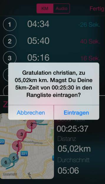 Virtueller Laufclub Runplugged - die Frage, ob man eintragen will (beim Text haperts noch, very beta), aber es funktioniert (28.06.2015)