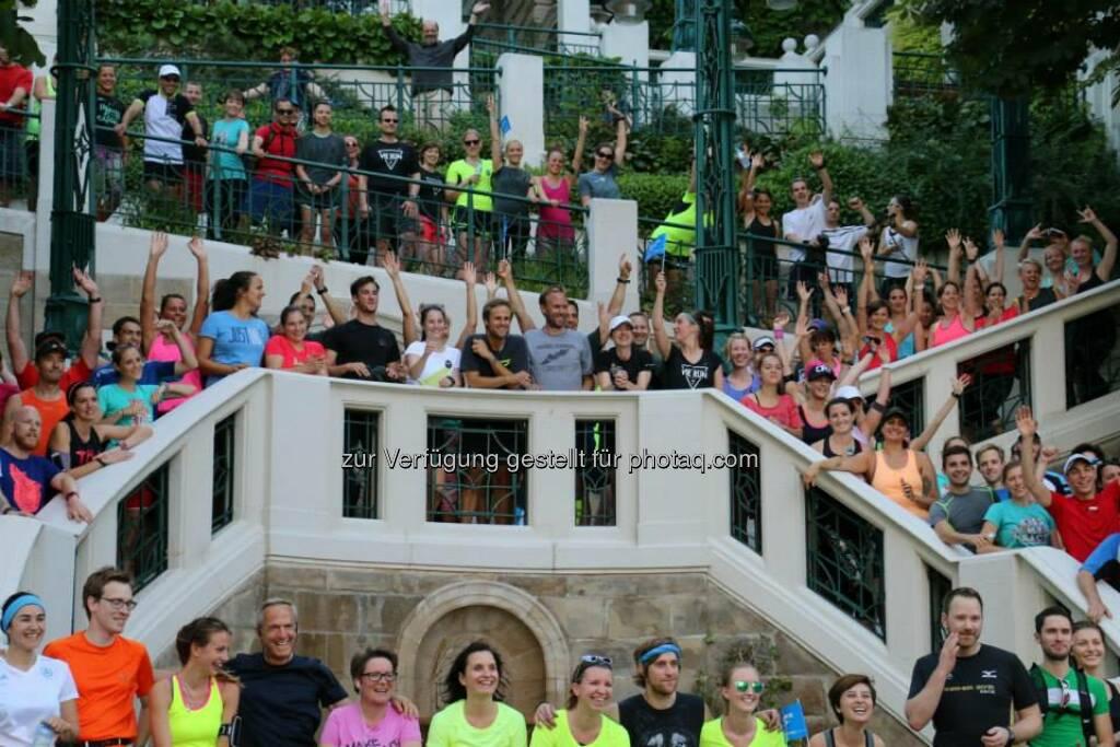 Strudhofstiege - Brooks Run Happy Tour Wien - Mit Anja Kulmann, René Hajek, Nadine Dlouhy, Alicia Eliskases, Xiaoshu Alice Hu (Bild: Brooks Running), © Brooks (29.06.2015)