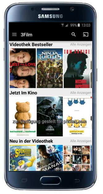 Hutchison Drei Austria Gmbh: Drei startet mit 3Film neue Video-App. (C) Hutchischon Drei Austria (30.06.2015)