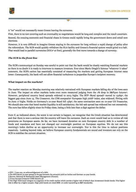 Ausblick auf Griechenland (Rothschild Asset Management) , Seite 2/3, komplettes Dokument unter http://boerse-social.com/static/uploads/file_187_ausblick_auf_griechenland.pdf (30.06.2015)