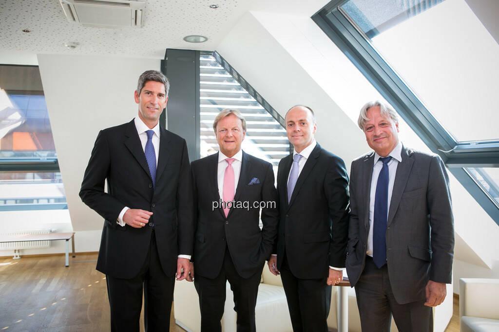 Dietmar Baumgartner, Bernhard Ramsauer, Harald Friedrich, Ullrich Kallausch, Semper Constantia Privatbank, © photaq/Martina Draper (01.07.2015)