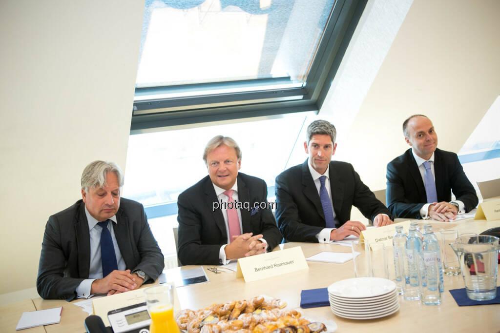 Ullrich Kallausch, Bernhard Ramsauer, Dietmar Baumgartner, Harald Friedrich, Semper Constantia Privatbank, © photaq/Martina Draper (01.07.2015)