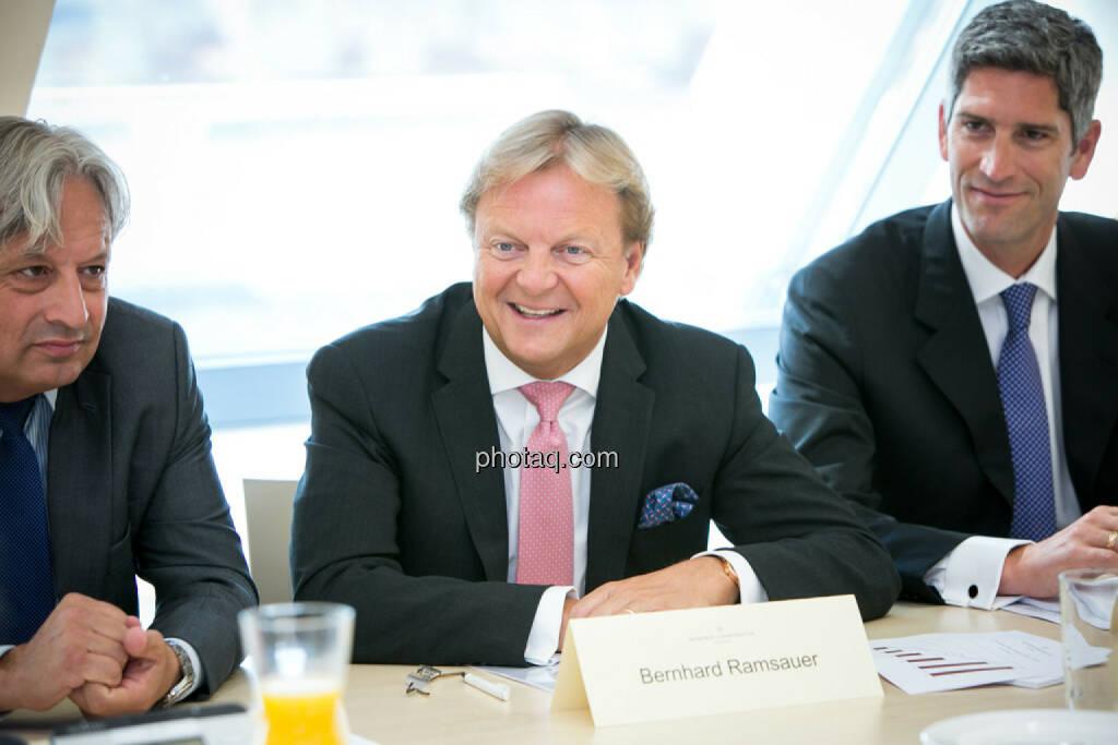 Ullrich Kallausch, Bernhard Ramsauer, Dietmar Baumgartner, Semper Constantia Privatbank, © photaq/Martina Draper (01.07.2015)