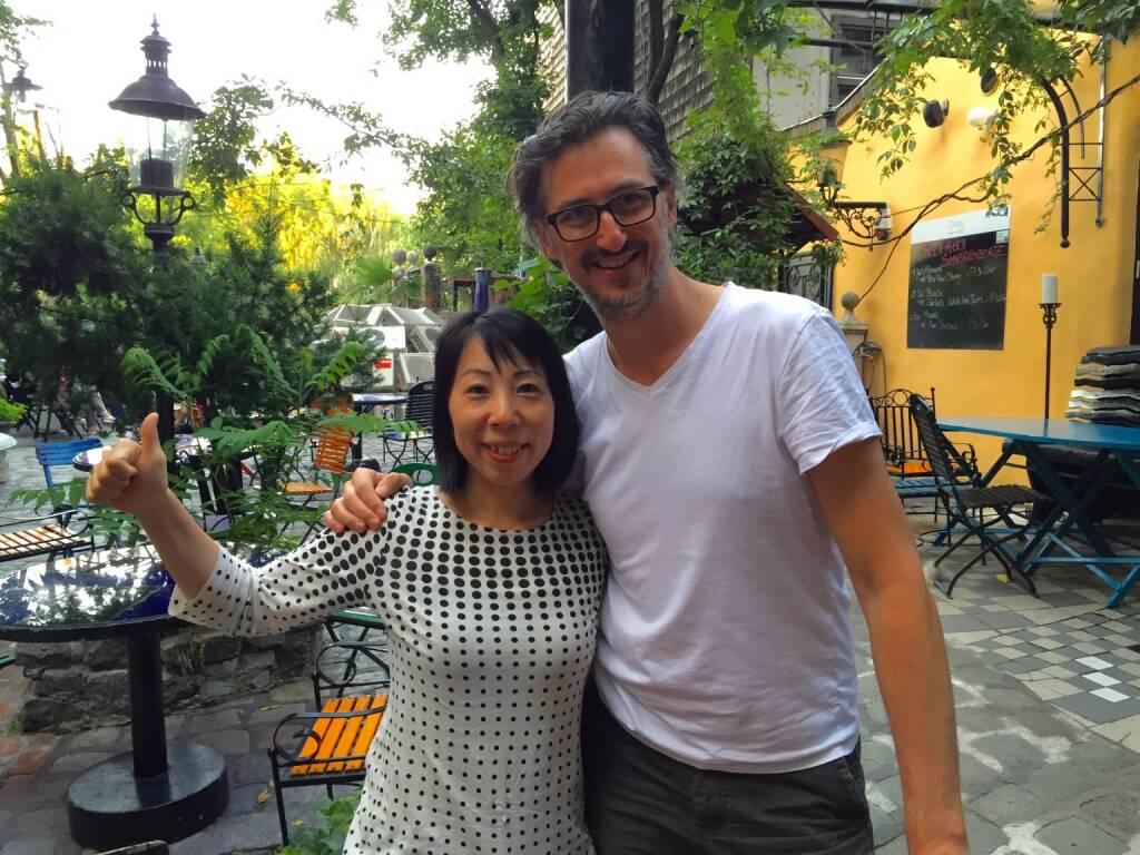 Rinko Kawauchi nach ihrem Workshop im Kunsthaus Wien mit Josef Chladek (03.07.2015)