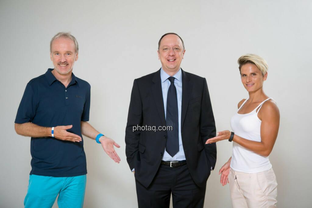 Christian Drastil, Roman Eisenschenk, Head of Austrian Sales Kepler Cheuvreux, Elisabeth Niedereder, Tristlye, © Martina Draper/photaq.com (08.07.2015)