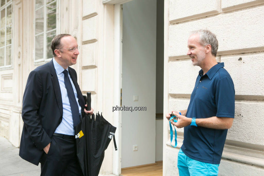 Roman Eisenschenk, Head of Austrian Sales Kepler Cheuvreux, Christian Drastil, © Martina Draper/photaq.com (08.07.2015)
