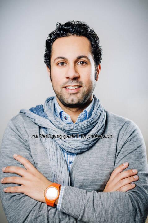 Jubin Honarfar, Co-Gründer und bisher Commercial Director der Video-Job-Plattform whatchado, ist ab sofort neuer CEO des Unternehmens, für das operative Management und für Sales in der Dach-Region zuständig. AignerPR Communication Services KG (C) Whatchado