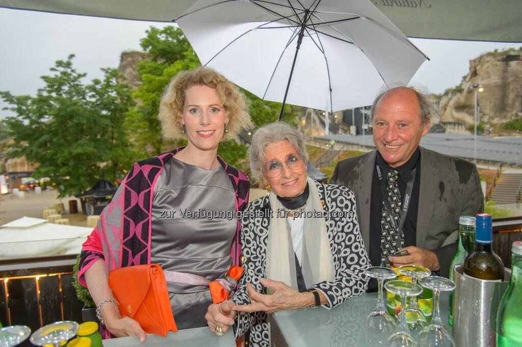 Maren Hofmeister (Intendantin) Lotte Tobisch, Robert Dornhelm (Regisseur), © ViennaPress / Andreas Tischler (09.07.2015)