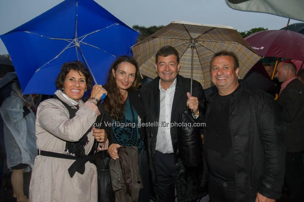 Erich Stekovics mit Begleitung Agnes und Stefan Ottrubay, © ViennaPress / Andreas Tischler (09.07.2015)