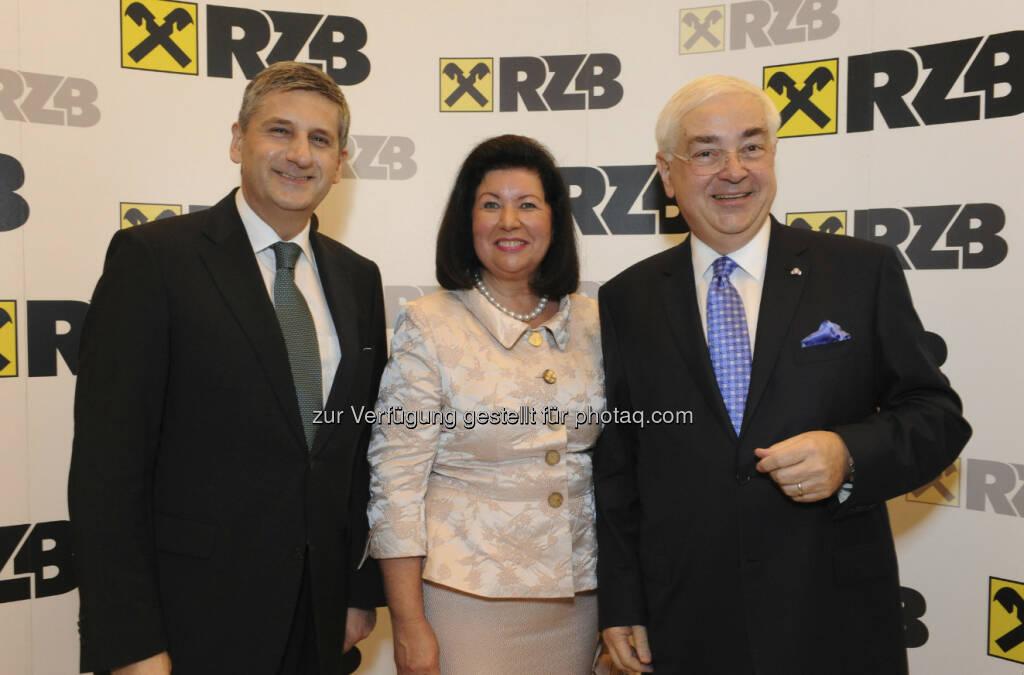Michael Spindelegger; Vizekanzler; Charlotte und Walter Rothensteiner, © RZB (10.03.2013)